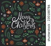 merry christmas lettering  | Shutterstock .eps vector #230188786