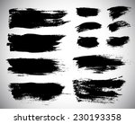 black ink vector stains | Shutterstock .eps vector #230193358