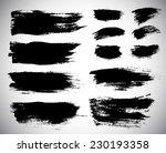 black ink vector stains | Shutterstock .eps vector #230193358