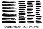 black ink vector brush strokes | Shutterstock .eps vector #230193598