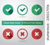 flat check marks set. different ... | Shutterstock .eps vector #230217556