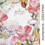 "floral background ""spring...   Shutterstock . vector #230219464"