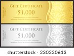 classical gold and silver gift... | Shutterstock .eps vector #230220613