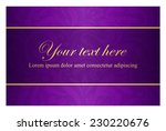 Purple Card With Vintage...