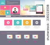 colorful flat website design...