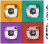 set of drawn photo icons.... | Shutterstock .eps vector #230226358