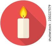 christmas candle icon  flat... | Shutterstock .eps vector #230227579