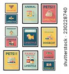 pet poster flat banner design... | Shutterstock .eps vector #230228740