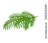 spruce christmas tree symbol... | Shutterstock .eps vector #230235589