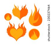 fire. icon set. isolated on...   Shutterstock .eps vector #230237464
