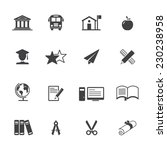 education icon set | Shutterstock .eps vector #230238958
