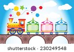 multicolored children's train.... | Shutterstock .eps vector #230249548