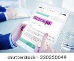 storage keeping digital device... | Shutterstock . vector #230250049