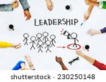 hands on whiteboard with leader ... | Shutterstock . vector #230250148
