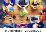 group of business people... | Shutterstock . vector #230256028