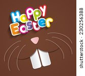 happy easter greeting card with ... | Shutterstock .eps vector #230256388
