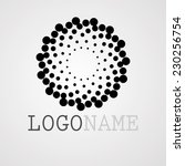 abstract circular halftone dots ... | Shutterstock .eps vector #230256754