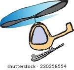 doodle helicopter vector | Shutterstock .eps vector #230258554