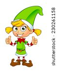 Girl Elf Character In Green  ...