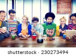 diverse people digital devices... | Shutterstock . vector #230273494