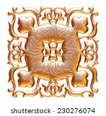 ancient gold ornament on a...   Shutterstock . vector #230276074