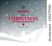 holidays typography at abstract ... | Shutterstock .eps vector #230279500