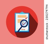 red circle flat contract icon... | Shutterstock .eps vector #230279794