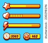 option menu yellow style game...