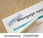 mortgage application concept... | Shutterstock . vector #230305300