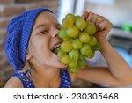 beautiful happy little girl in... | Shutterstock . vector #230305468