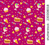 birthday seamless pattern... | Shutterstock .eps vector #230308018