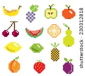 pixel art ifruit icons in color | Shutterstock .eps vector #230312818