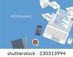 programming coding flat concept ...   Shutterstock .eps vector #230313994