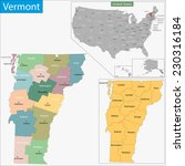 map of vermont state designed... | Shutterstock .eps vector #230316184