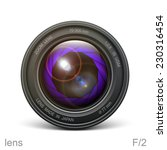 lens icon  object glass icon ...