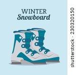 sports design over blue... | Shutterstock .eps vector #230320150