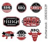 illustration set of bbq labels. ... | Shutterstock .eps vector #230323129