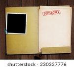 Folder With Top Secret Stamped...