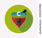 pet dog chains flat icon with... | Shutterstock .eps vector #230345980