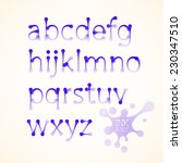 vector ink drawn lowercase... | Shutterstock .eps vector #230347510