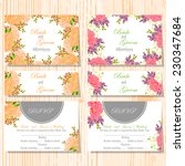 wedding invitation cards with... | Shutterstock .eps vector #230347684