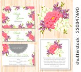 wedding invitation cards with... | Shutterstock .eps vector #230347690