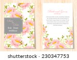 wedding invitation cards with... | Shutterstock .eps vector #230347753