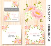 wedding invitation cards with... | Shutterstock .eps vector #230347873