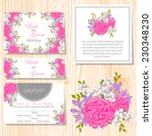 wedding invitation cards with... | Shutterstock .eps vector #230348230