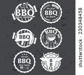 illustration set of bbq labels... | Shutterstock .eps vector #230348458