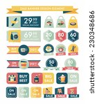coffee sale banner design flat... | Shutterstock .eps vector #230348686