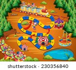 circus themed board game with... | Shutterstock .eps vector #230356840