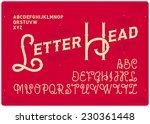 vintage elegant font with... | Shutterstock .eps vector #230361448