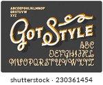 vintage font set | Shutterstock .eps vector #230361454